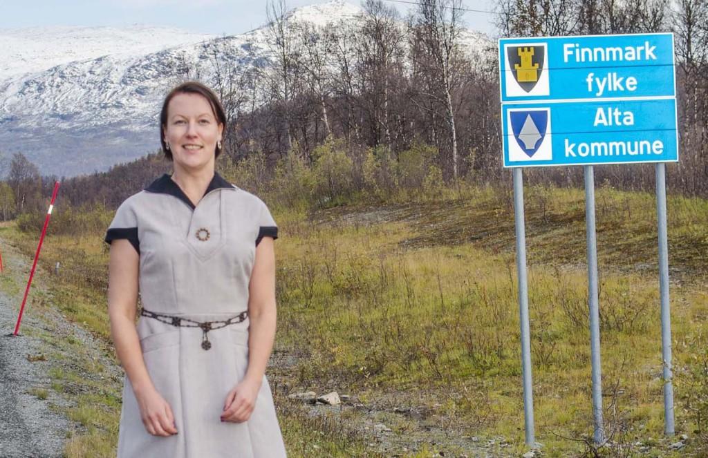 Hilja Huru håper finnmarkspolitikerne støtter forslaget om heving av kvensk til nivå III. KUVA Heidi Nilima Monsen