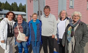 Margaretha Bucht Bråtind, Grete Alise Nilima Monsen, Evy Nilima Hansen, Øyvind S. Larsen, Astrid –gift Bucht og Annie Grape Johansen.