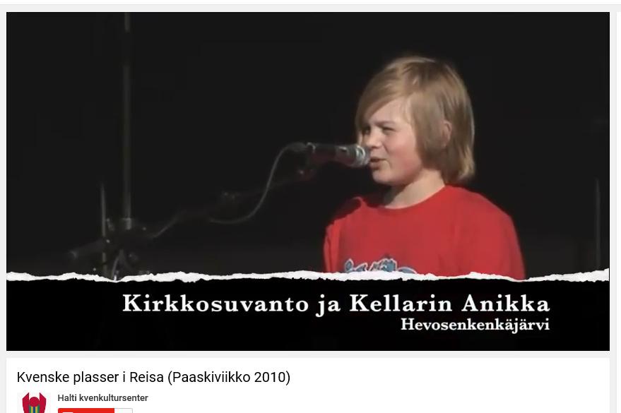 Meta Raapana Reibo, Kveenidol 2010. KUVA SKJERMDUMP YOUTUBE HALTI KVENKULTURSENTER