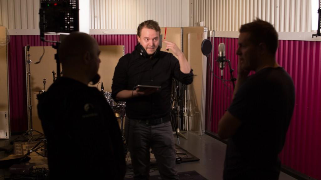 Eskild Johansen i studio KUVA JOAKIM JAKSLAND