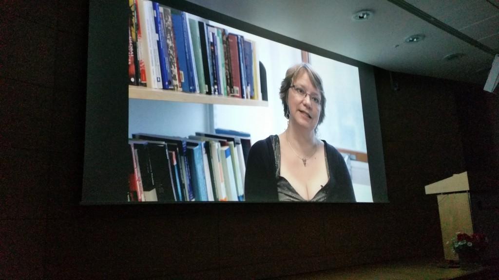 To av Pia Lanes forskningsprosjekter har blitt film. Dokumentaren ble vist under jubileumsseminaret for kvensk språk på Nasjonalbiblioteket. KUVA HEIDI NILIMA MONSEN