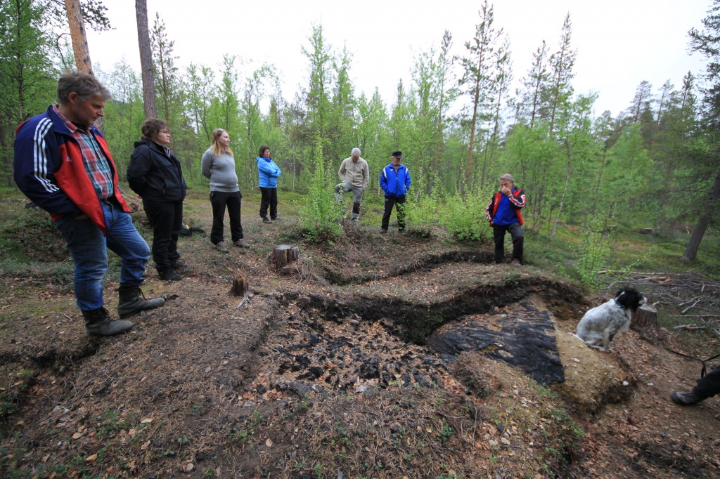 I fjor arrangerte Alta Kvenforening en vandring til tjæremila sammen med arkeolog og prosjektleder Evelyn Johnsen. KUVA ALF E. HANSEN