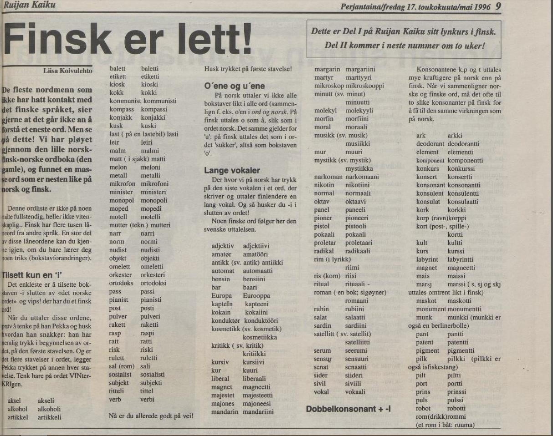 Finsk er lett!