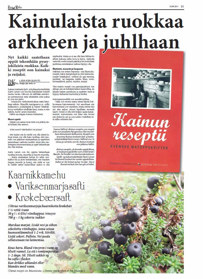 faksimile, Ruijan Kaiku nr 7, 2011
