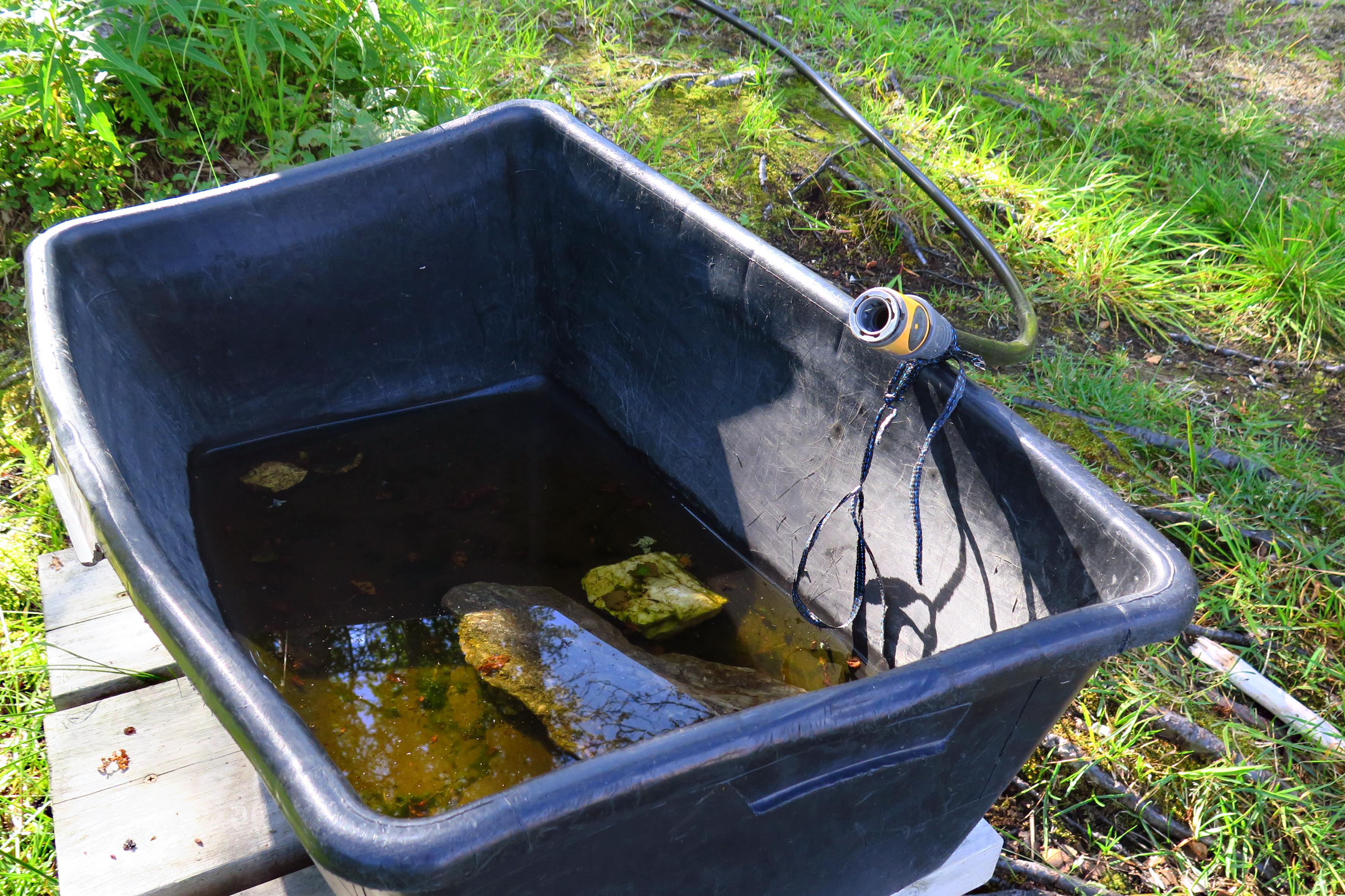 Badstu uten vann – Kommunalt kjempeinngrep la bekken tørr
