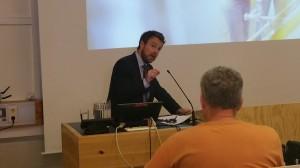 Kunnskapsminister Torbjørn Røe Isaksen holdt innlegg på Norges Arktiske Universitet, Campus Alta, sist fredag. KUVA HEIDI NILIMA MONSEN