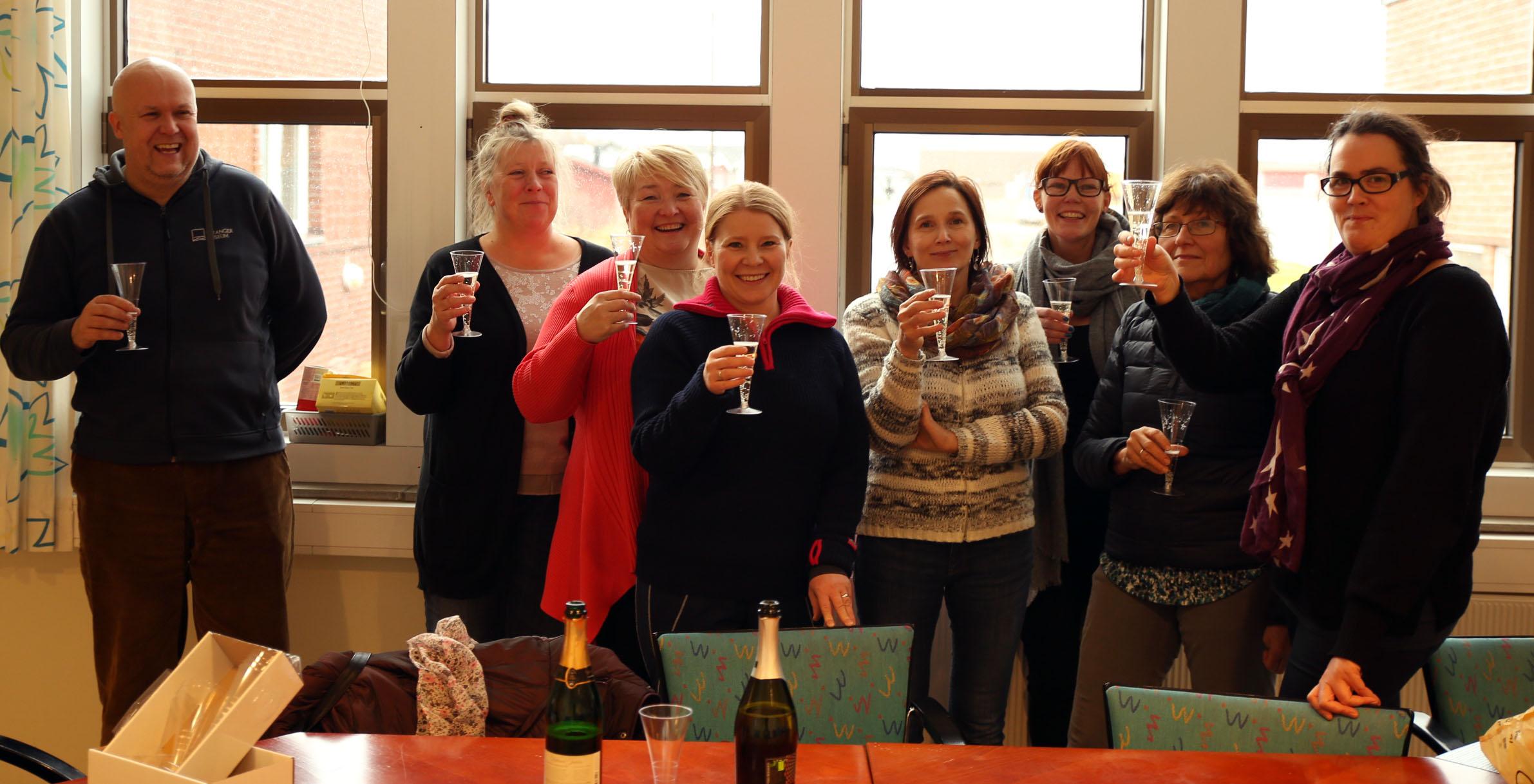 Feiret med champagne