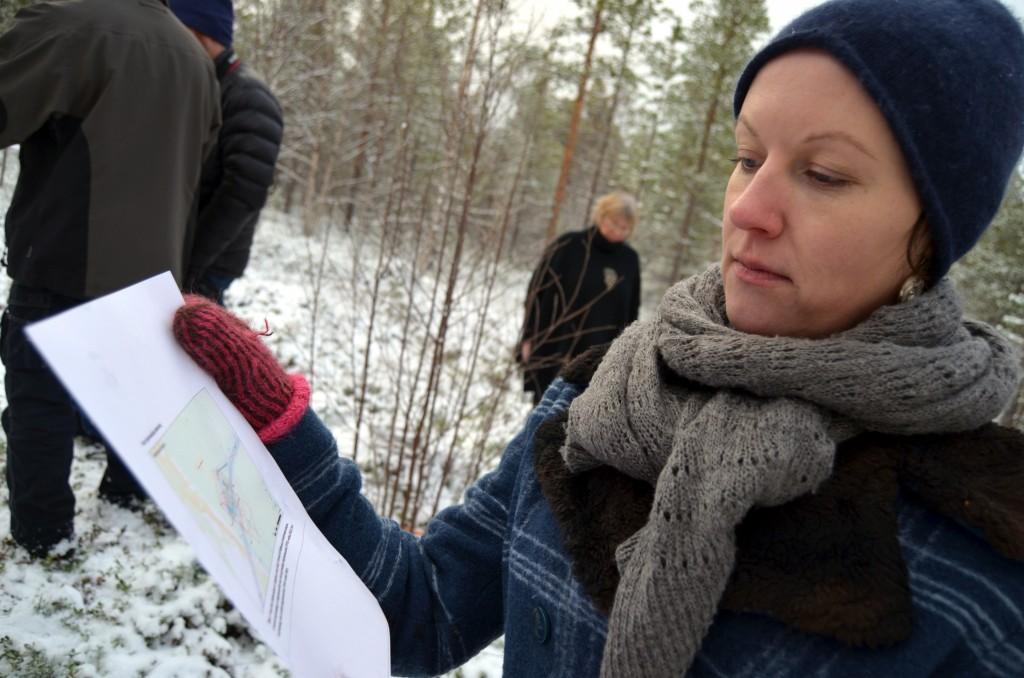 NKF, her ved leder Hilja Huru (t.v.), klagde inn tjæremilsvedtaket til Olje- og energidepartementet, men fikk avslag. KUVA HEIDI NILIMA MONSEN