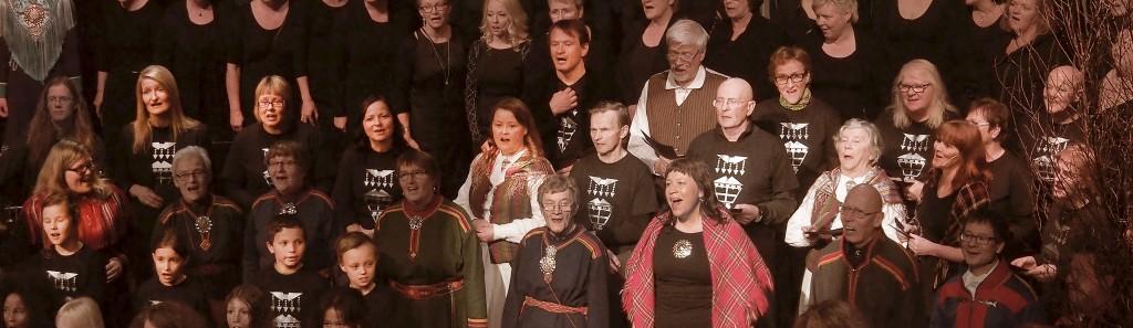 KvääniÄänii sang under åpningen av nybygget Halti i oktober. Nå starter de snart opp med nye øvinger. KUVA LIISA KOIVULEHTO