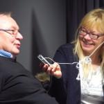 Trygg Jakola, kainun kieliraati/Vesisaari ja Anne Mari Rahkonen Berg, NRK:n suomenkielinen lähetys.