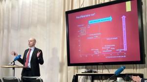 Redaktør Anders Opdahl i Nordlys presenterte en visjon for en norsk medieplattform, som en motvekt for de internasjonale som bidrar lite til det norske samfunnet.