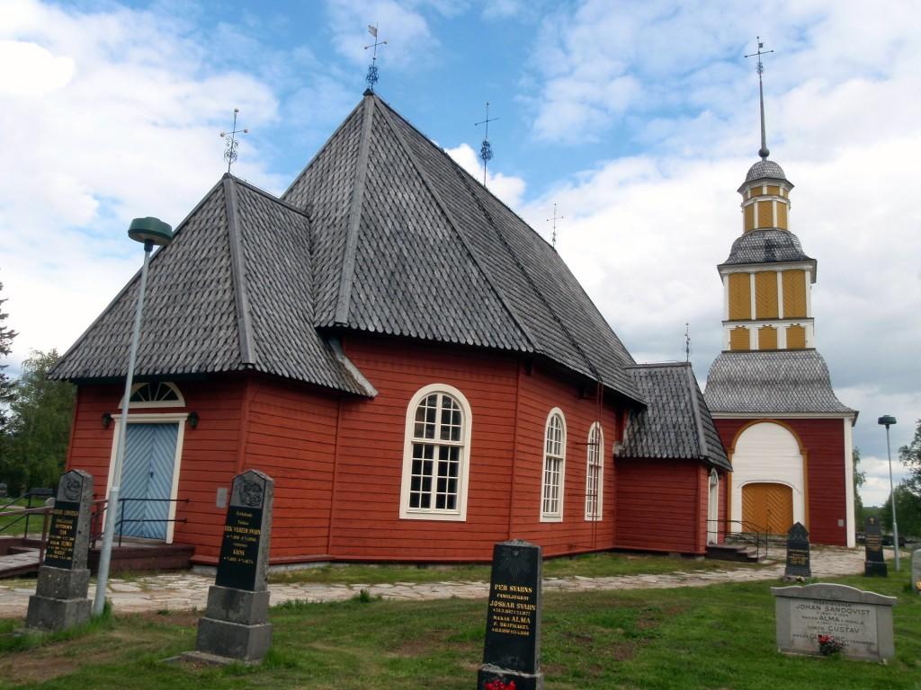1700-tallskyrkan – Hedneset/Hietaniemi, Sverige er et av stedene en kan besøke under slektsforskningsturen til Tornedalen. KUVAT ALF E. Hansen