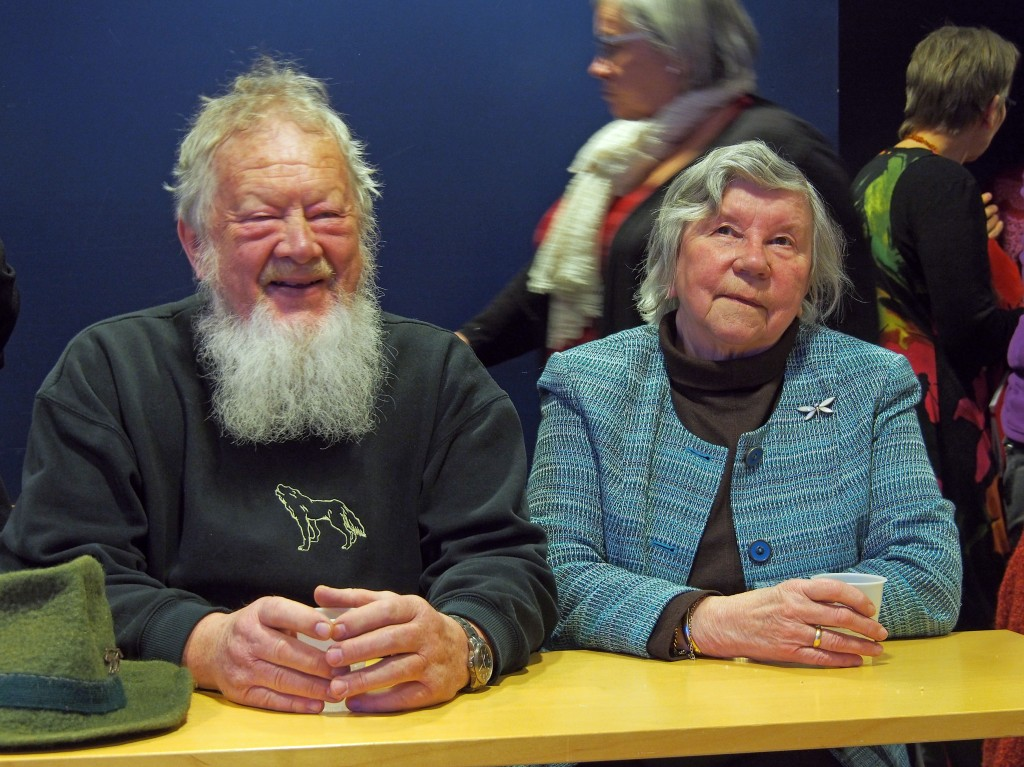 Reidun Mellom, her sammen med mannen Åge, fortalte om sin nye bok om kvenene.