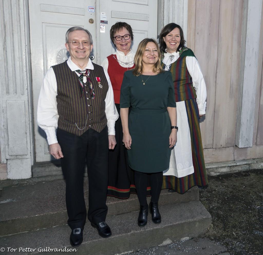 Terje Aronsen, Anne Wilhelmsen, Anne Karin Olli og Beate Wilhelmsen. KUVA TOR PETTER GULBRANDSEN