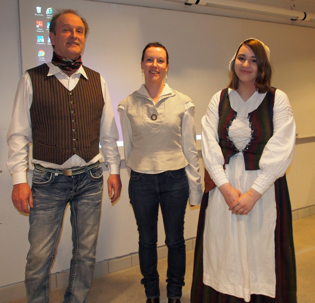 NKFs generalssekretær Ivar Johnsen, NKF-leder Hilja Huru og ny NKF-medarbeider Sofie Blomstrand Figenschou.