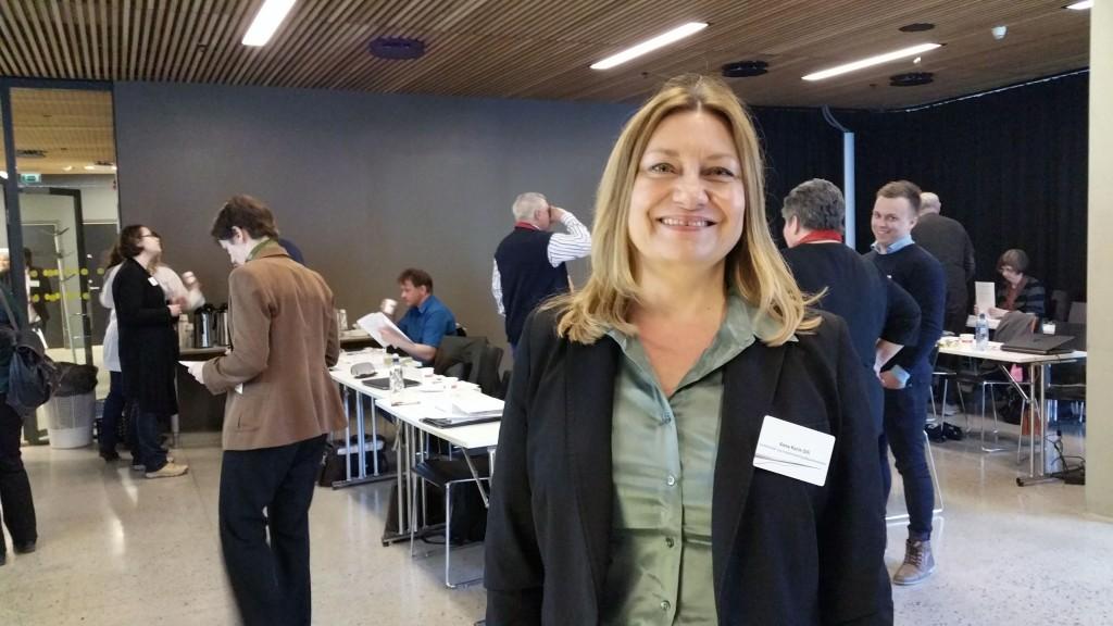 Statssekretær Anne Karin Olli håper alle blir med på å dra lasset for det kvenske språkets framtid. KUVA HEIDI NILIMA MONSEN