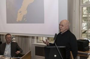 Her kan du se professor emeritus Henning Johanssons innlegg under Qvän Østlandets urfolksdebatt på Fritt Ord i Oslo 2. april. KUVA TOR PETTER GULBRANDSEN