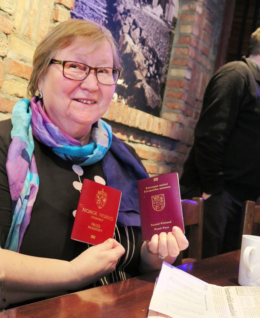 Maarit Markussen har vært norsk statsborger flere tiår. Hvis Norge tillater dobbeltstatsborgerskap, vil hun søke og få tilbake sitt finske statsborgerskap. KUVA: LIISA KOIVULEHTO