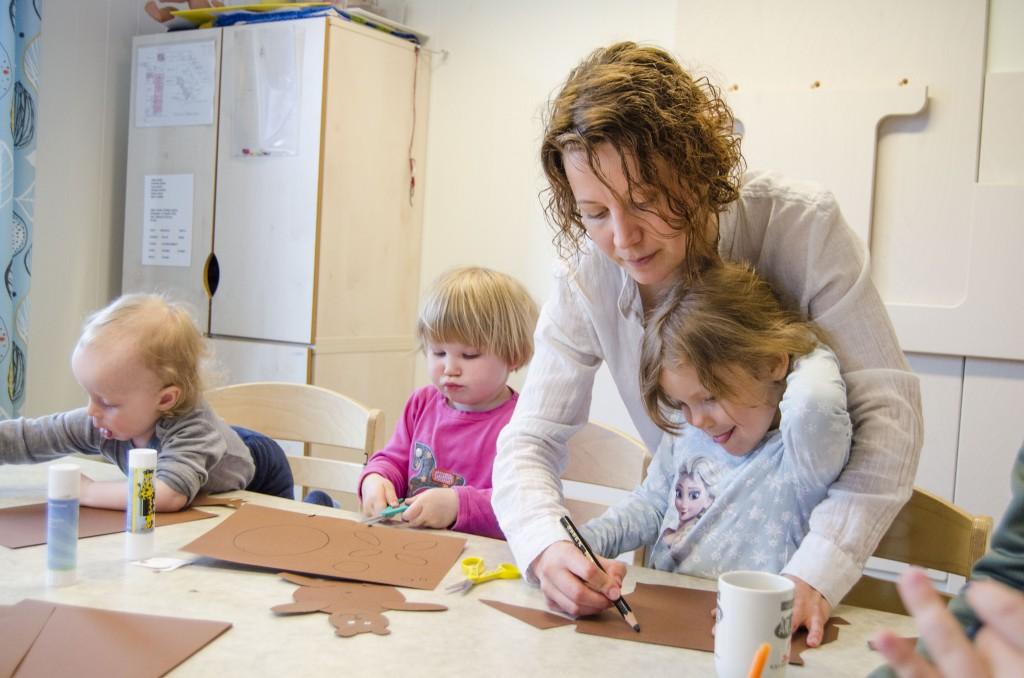 I Porsanger har språkreirprosjektet hatt stor suksess, og nå håper NKF at Troms fylkeskommune tar inn språkreir i barnehager som del av den nye kvenske handlingsplanen. KUVA HEIDI NILIMA MONSEN
