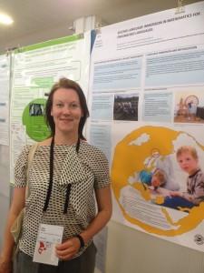 Det var stor interesse for prosjektet da Hilja Huru presenterte dette under en stor matematikkdidaktikk konferanse i Hamburg i sommer. KUVA ANITA MOVIK SIMENSEN