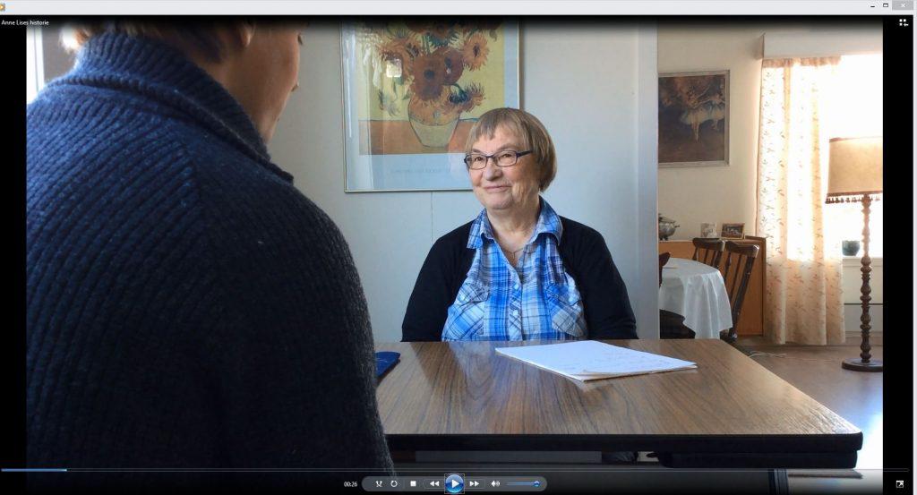 I Børge Hansen fortellerkonkurransebidrag møter vi Anne Lise som forteller om sitt kvenske opphav. KUVA SKJERMDUMP