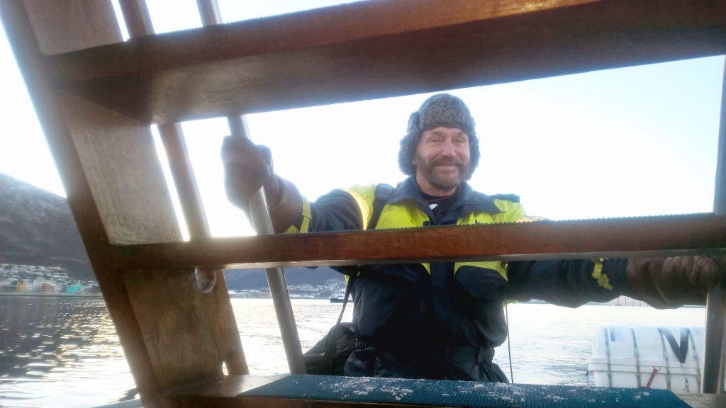 Lauri Pietikäinen oon valasopphaana Tromssassa toista talvisesonkii. Kesälä hän työtelee Stössä.