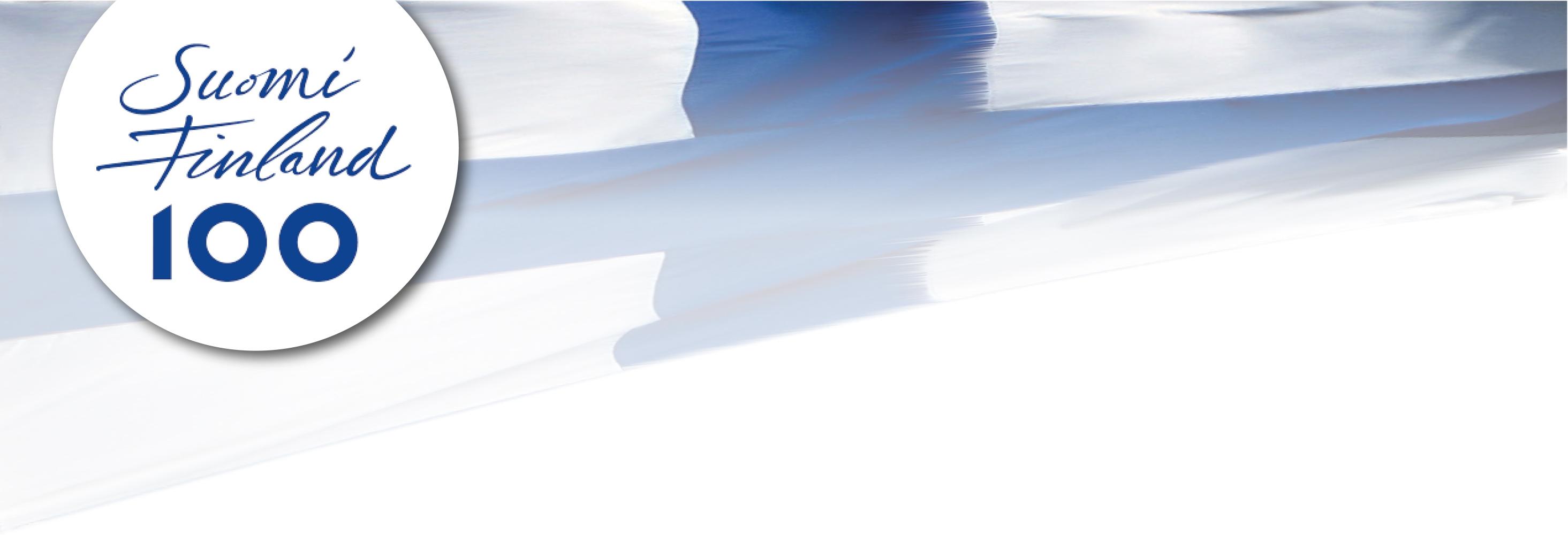 Holmenkollbakken og Niagarafallene i blått og hvitt