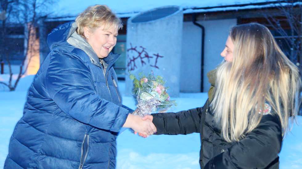 Staatinministeri kylästeli Alattiossa • Statsministerbesøk i Alta