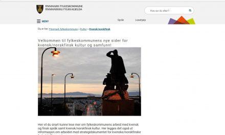 Nye nettsider for kvensk/norskfinsk kultur og samfunn