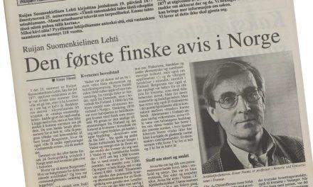 Fra arkiv: Ruijan Suomenkielinen Lehti – den første finske avis i Norge