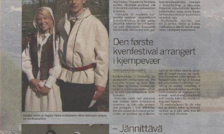 Fra arkivet: Den første kvenfestival arrangert i kjempevær