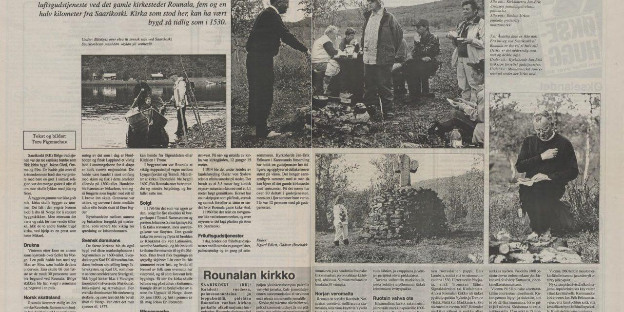 Rounala – et gammelt knutepunkt på Nordkalotten