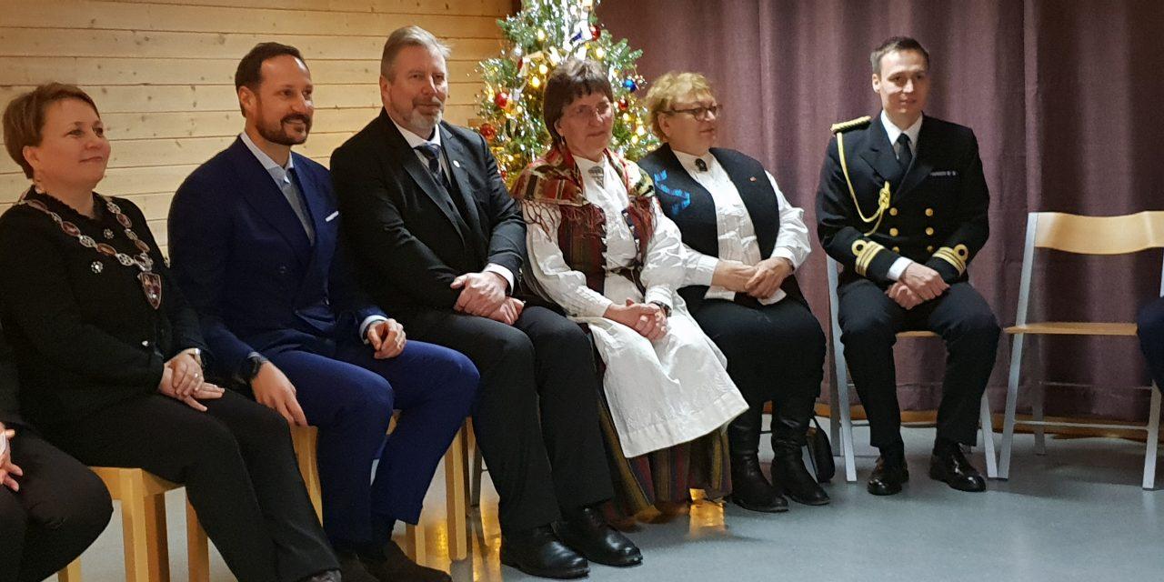 Kronprins Haakon møtte de kvenske barna