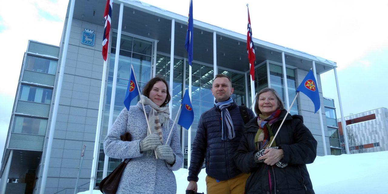Kvenflagget til topps i Tromsø