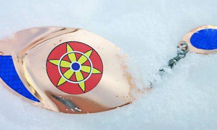 Skitt isfiske med kvenblink