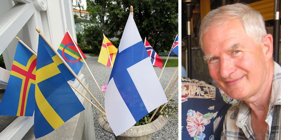 Starter arbeid for skogfinsk flagg